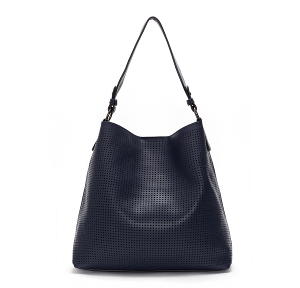 Dark Sapphire Clara Laser Cut Shoulder Bag