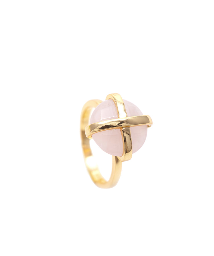Pink Chalcedony Luck Collection Ring