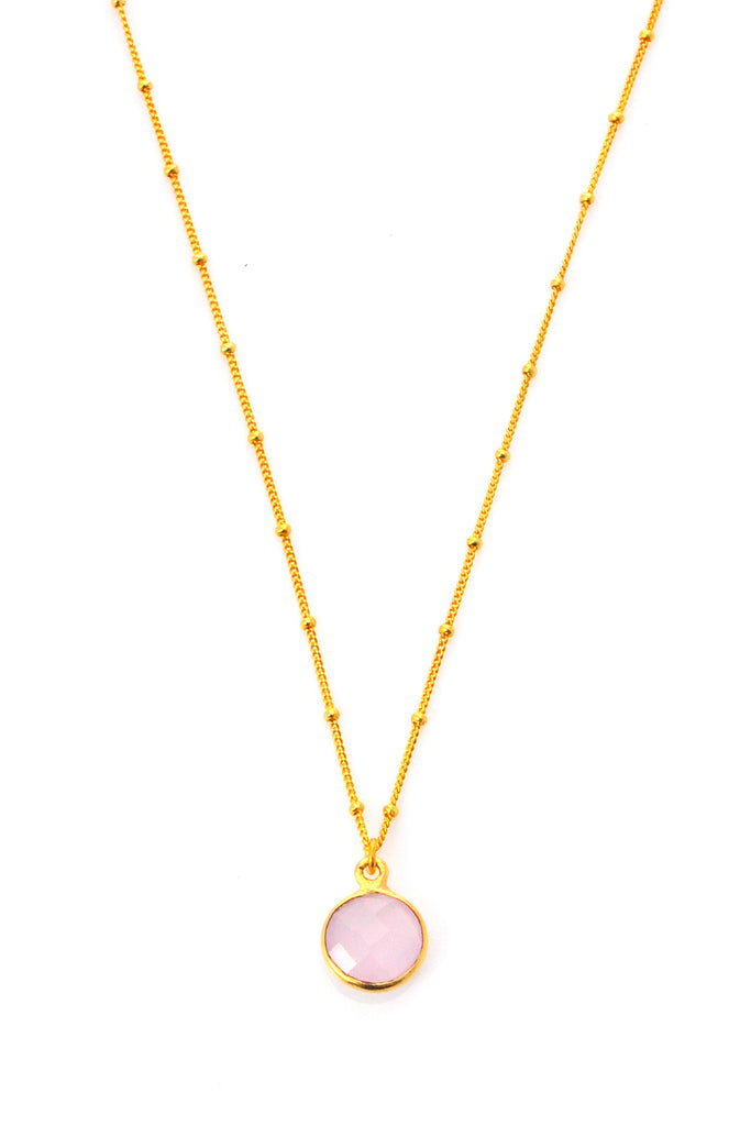 Pink Chalcedony Resolution Necklace