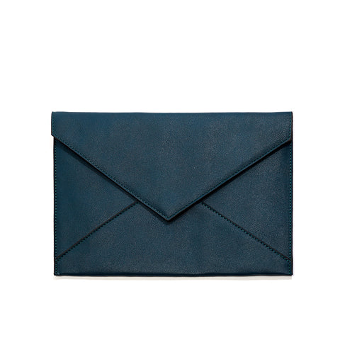 Teal Chani Envelope Clutch