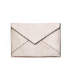 White Metallic Chani Envelope Clutch