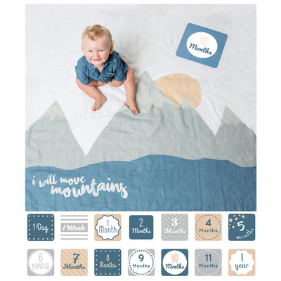 Lulujo prva godina set dekica i kartice I Will Move Mountains - BabyLaura