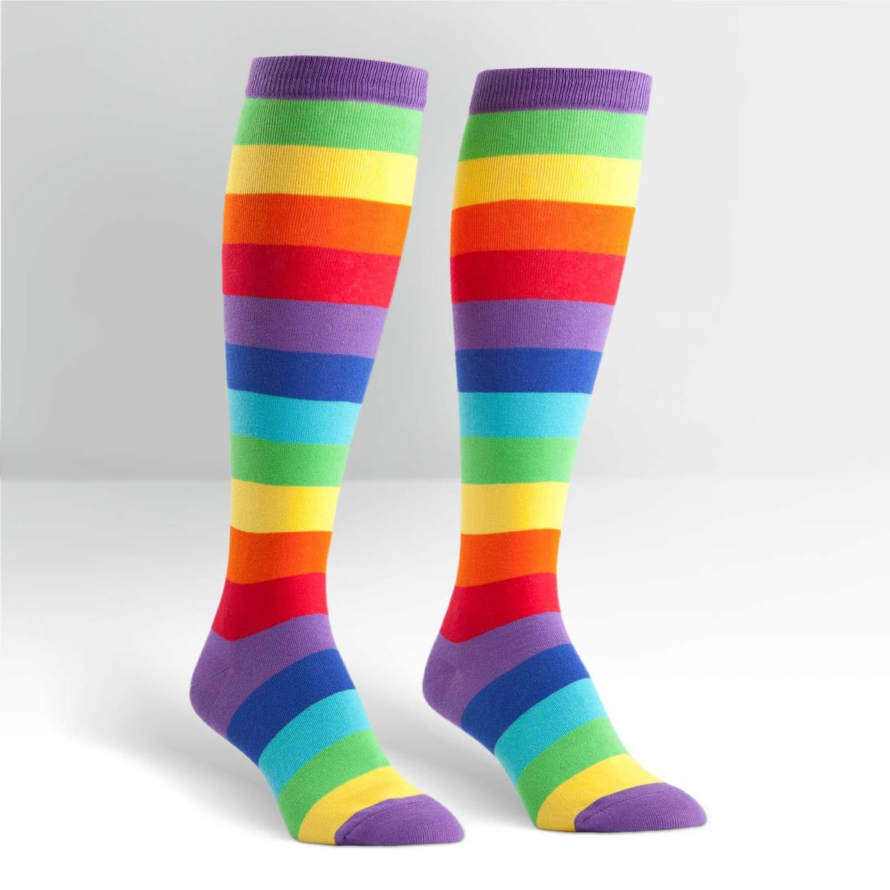17320d6b7 Stretch It Juicy Fruit Striped Knee High Socks (Unisex) Sock It To Me