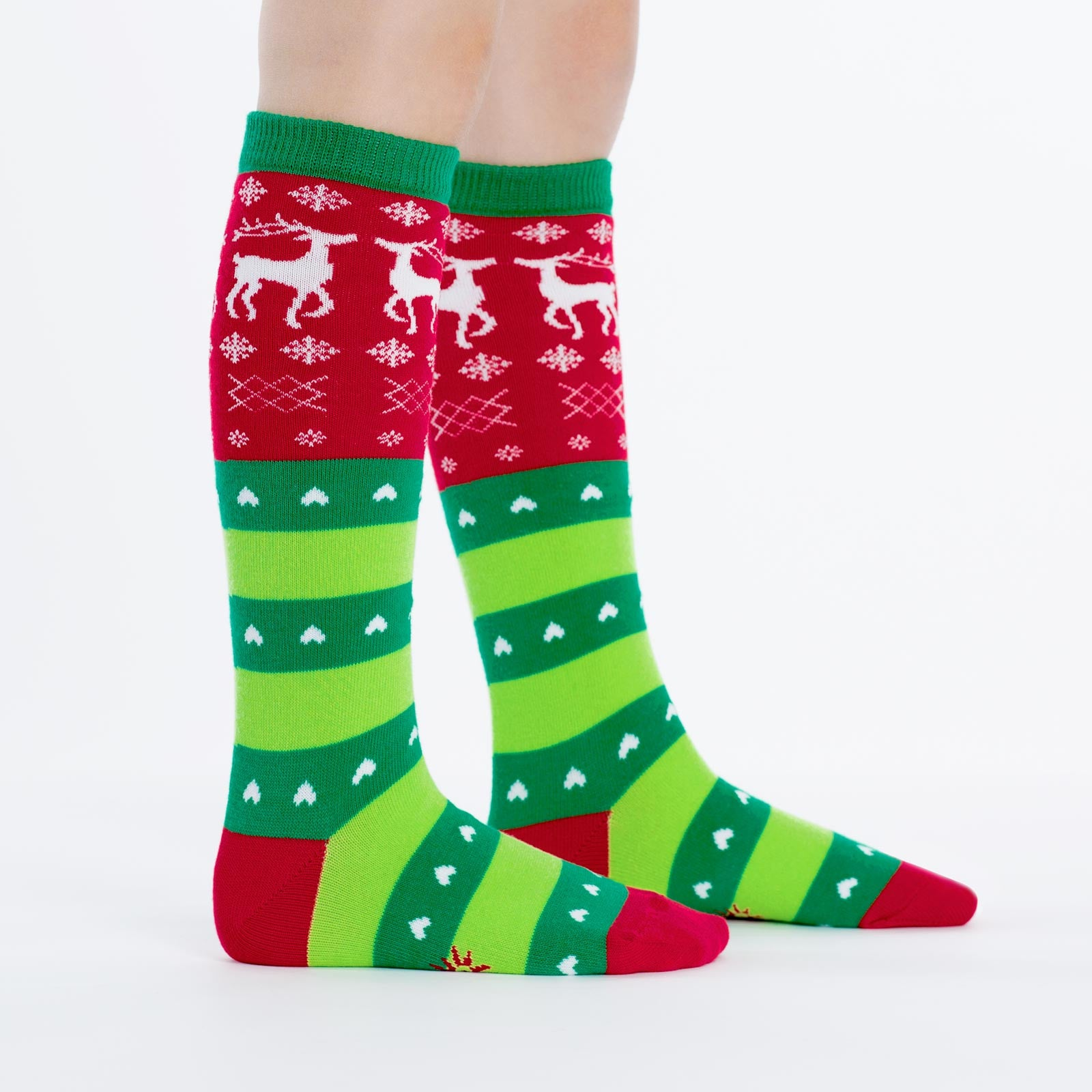 b4ed26f625c Fun Socks - Kids  Christmas Sweater Knee High Socks