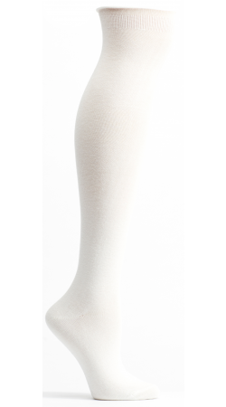 Solid Color High Zone Knee High Socks (Women's)