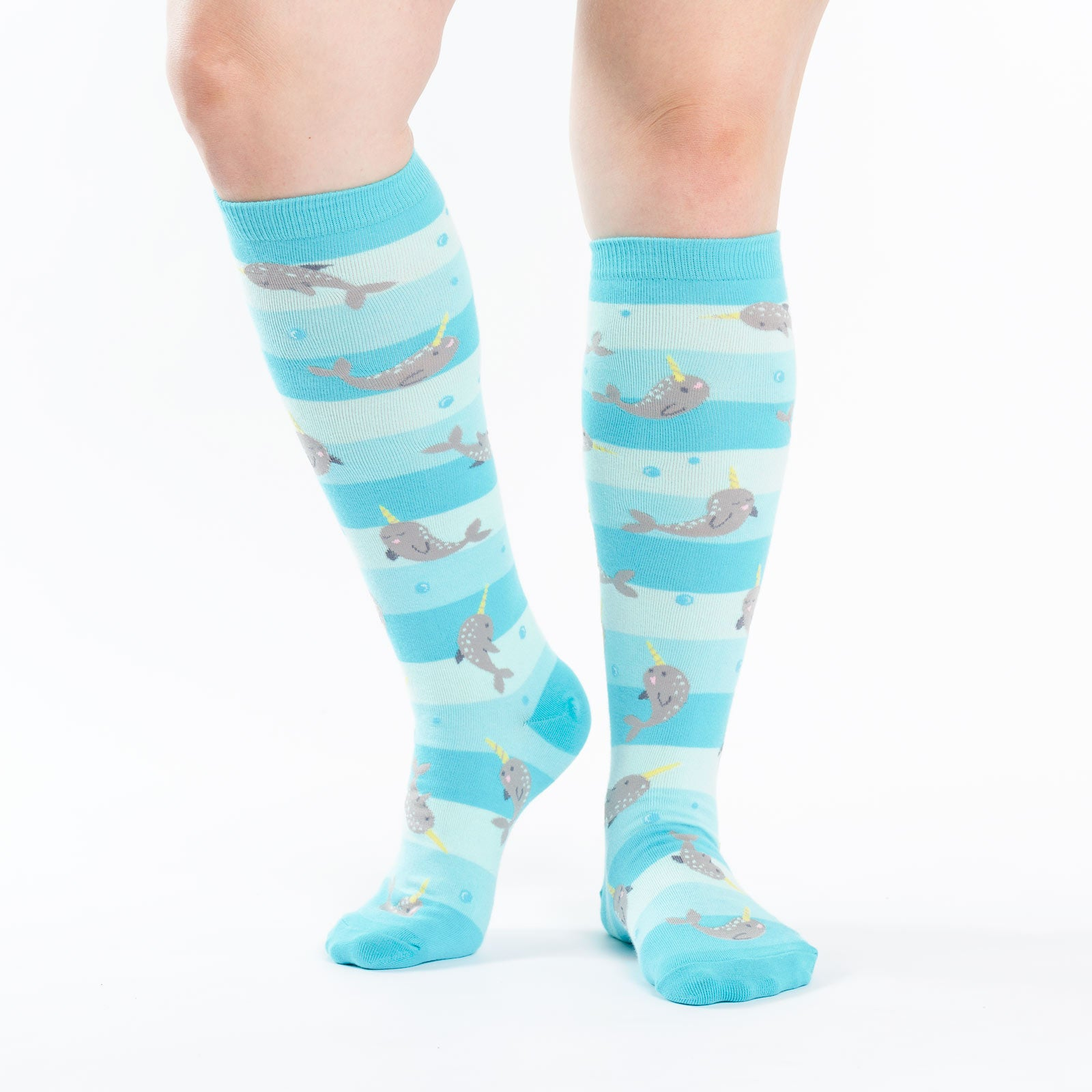 87e130501fc8c Narwhals Unicorns Of The Sea Knee High Socks (Women's) Sock It To Me