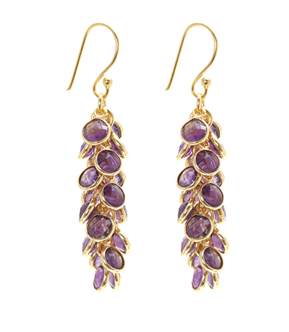Amethyst Baby Bezel Earrings