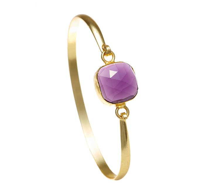 Amethyst Ileina Bangle