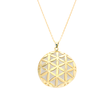 Flower of Life Gold Pendant