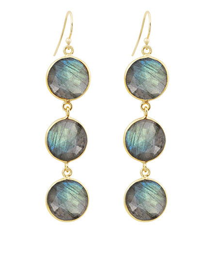 Labradorite Alchemy Drop Gemstone Earrings