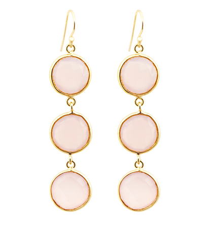 Rose Quartz Alchemy Drop Gemstone Earrings