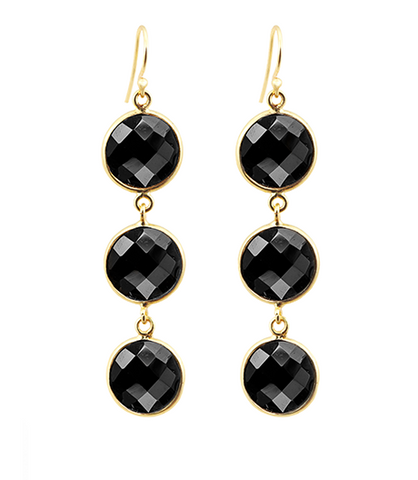 Black Onyx Alchemy Drop Gemstone Earrings
