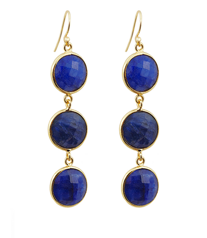 Precious Sapphire Alchemy Drop Gemstone Earrings