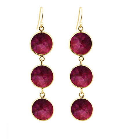 Precious Ruby Alchemy Drop Gemstone Earrings