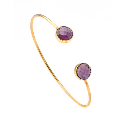 Amethyst Circle Gemstone Bangle