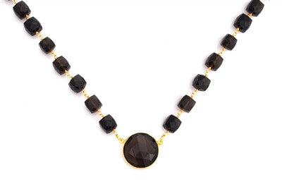 Sacred Jewels Smoky Quartz Venus Necklace