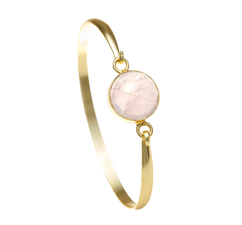 Rose Quartz Ileina Bangle