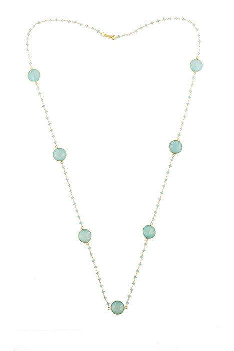 Peru Chalcedony Constellation Necklace