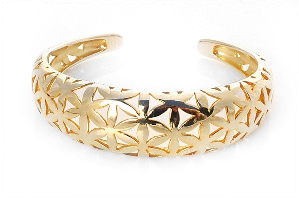 Flower of Life Gold Cuff