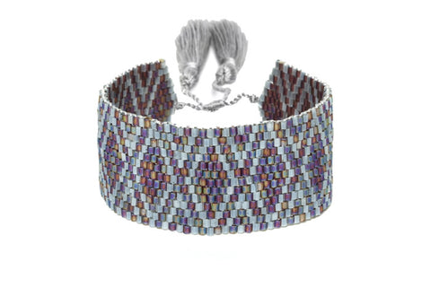 Multicolored Mixed Beaded Cuff Bracelet