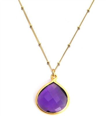 Sacred Jewels Amethyst Inspiration Chain Necklace