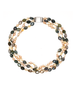 Moss Green Agate, Faceted Citrine and Pink Pearl Halo Gemstone Choker