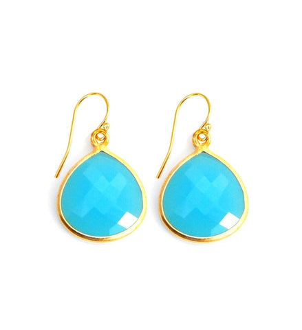 Aqua Chalcedony Inspiration Earrings
