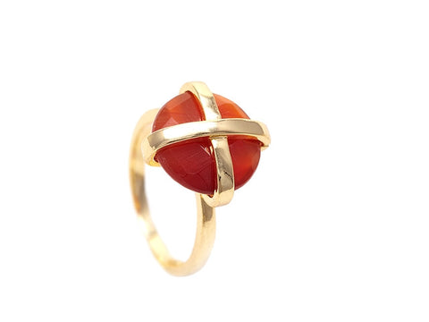 Red Agate Luck Collection Ring
