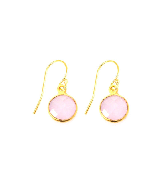 Pink Chalcedony Resolution Earrings