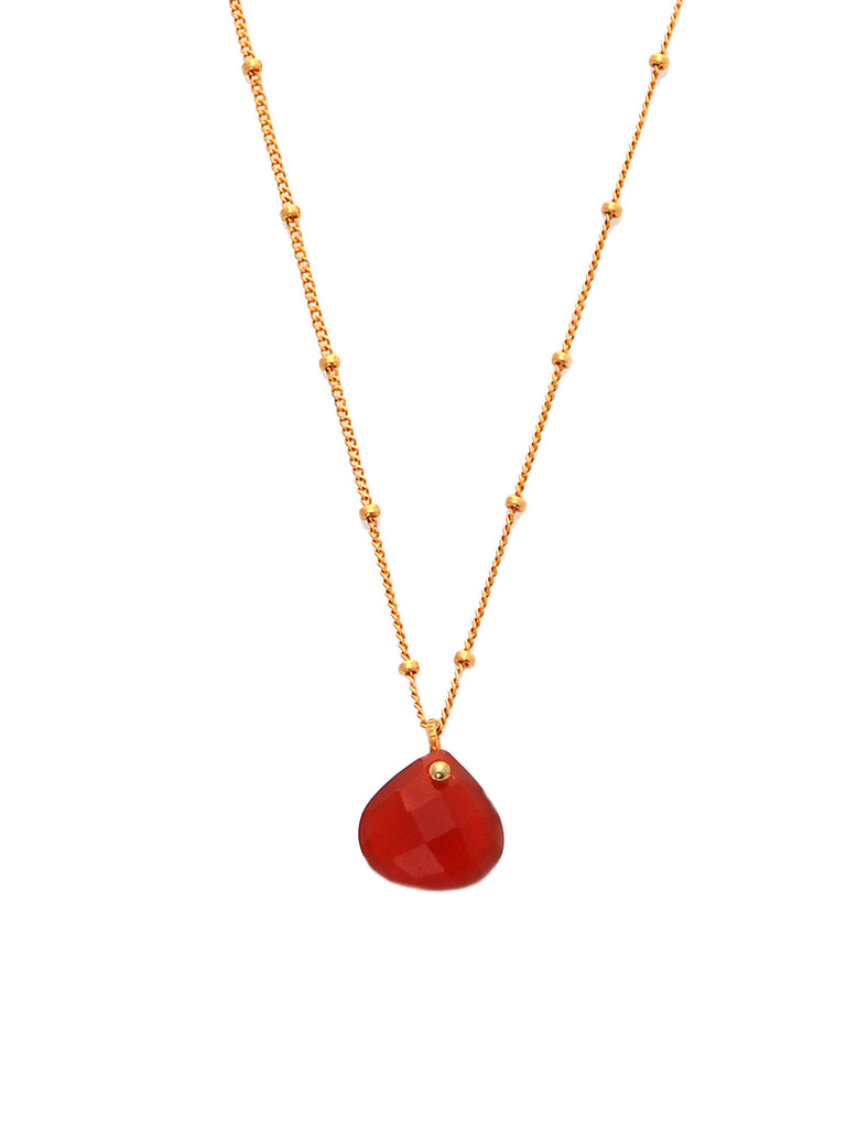Red Onyx Simplicity Rocks Necklace