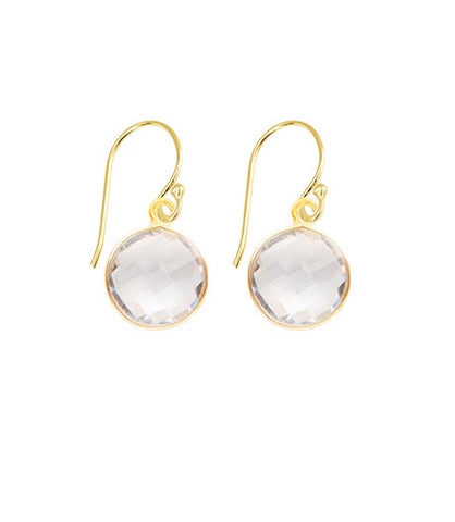 Crystal Quartz Unity Earrings