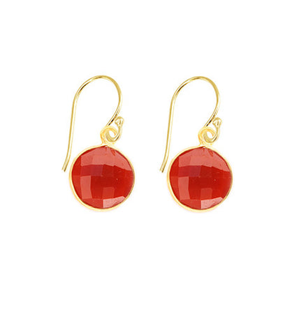 Red Onyx Unity Earrings