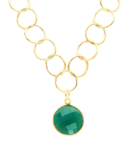 Sacred Jewels Green Onyx Unity Necklace