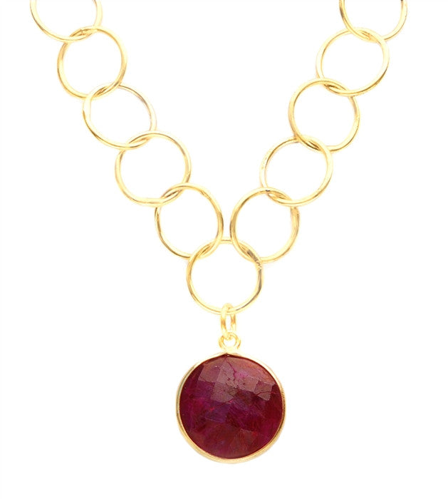 Sacred Jewels Precious Ruby Unity Necklace