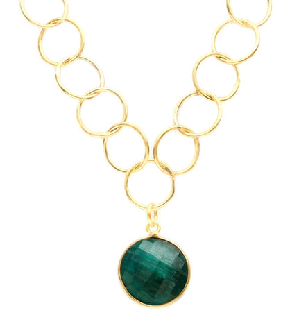 Sacred Jewels Precious Emerald Unity Necklace