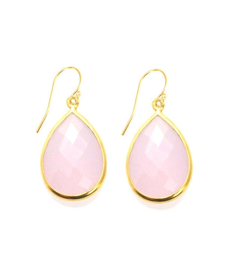 Sacred Jewels Pink Chalcedony Vision Earrings