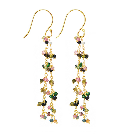 Tourmaline Beaded Vision Gemstone Earrings