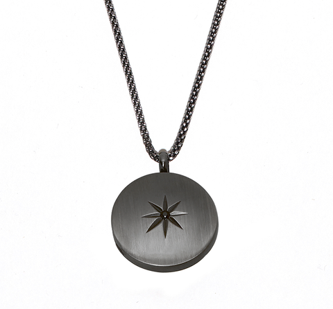 Steel Stellar Locket Necklace