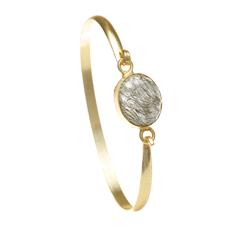 Tourmalated Quartz Ileina Bangle