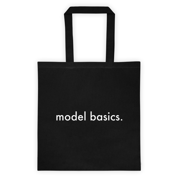 Model Basics tote bag
