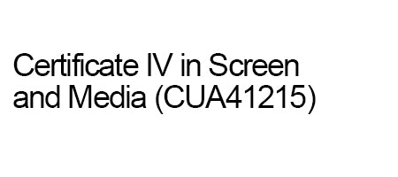 Deposit for payment plan student Certificate IV in Screen and Media (CUA41215)