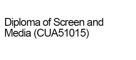 Deposit for full fee for service student on a payment plan for Diploma of Screen and Media (CUA51015)