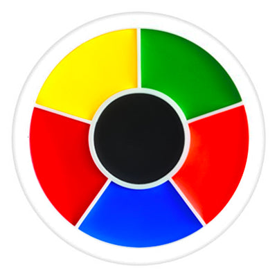 Ben Nye Color Makeup Wheel - Rainbow RW (6 Colors)