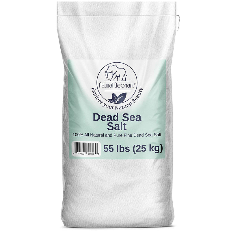 Dead Sea Salt 100% Natural and Pure 55 lb (25 kg)