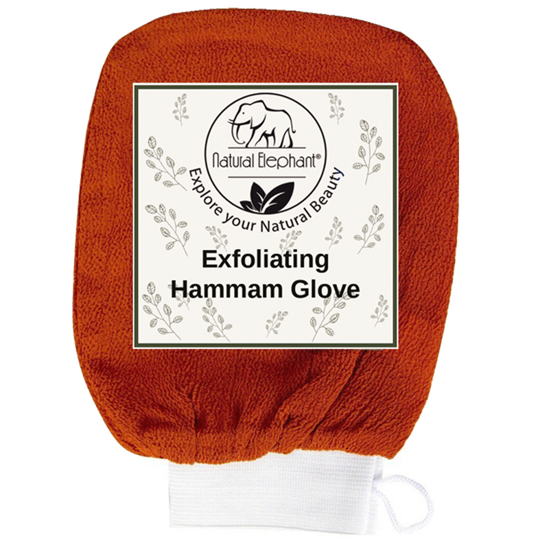 Exfoliating Hammam Glove - Face and Body Exfoliator Mitt Burnt Orange