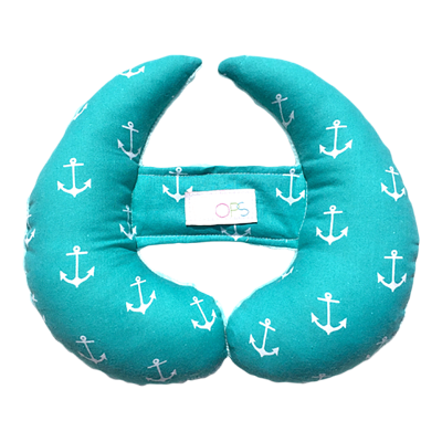 Coussin Evo - Ancres turquoises