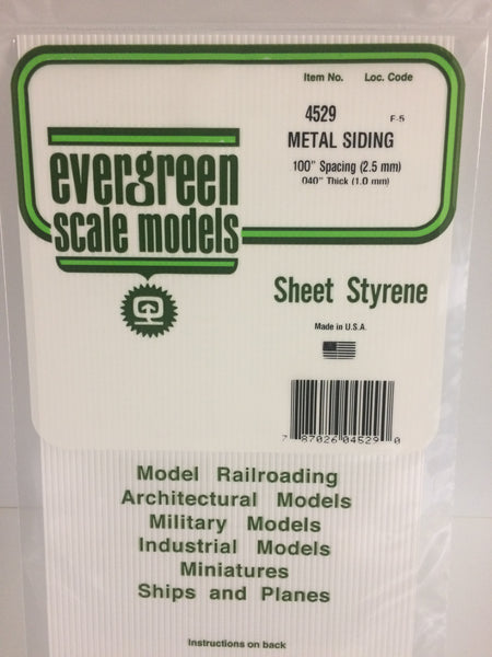 "Evergreen 14529 Metal Siding 12 x 24"" .100"" Spacing"