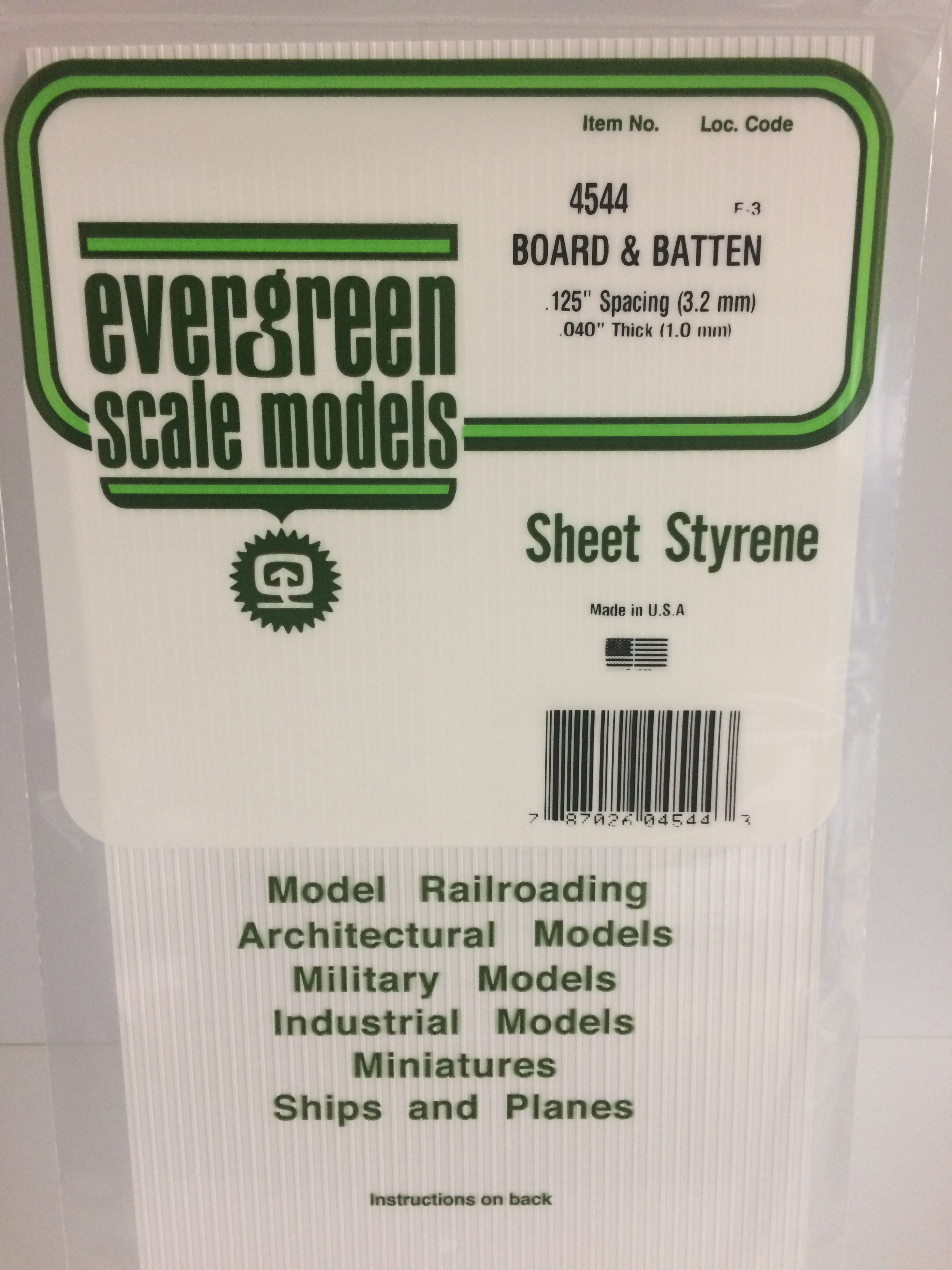 040 1 0mm Opaque White Polystyrene Board And Batten Siding Evergreen Scale Models