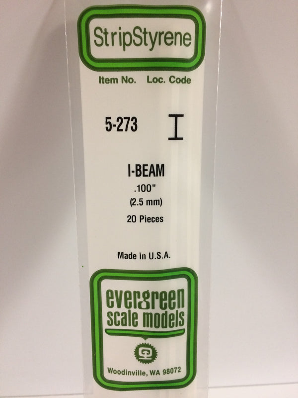 273 100 Quot 2 5mm Opaque White Polystyrene I Beam
