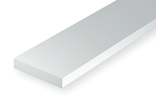 Opaque White Styrene Strips .100 Thick 7 .312 Wide pkg 24 Long